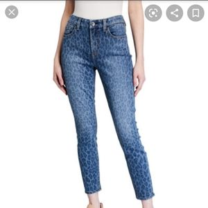 H&M Cheetah Print Denim Jeans